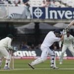 Постер, плакат: Cricket England vs Bangladesh 1st test day 1 Johnathon Trott Mushfiqur Rahim