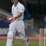 Постер, плакат: Cricket England vs Bangladesh 1st test day 1 Andrew Strauss