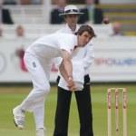 Постер, плакат: Cricket England vs Bangladesh 1st test day 3 Steve Finn