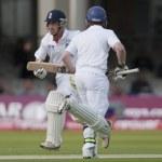 Постер, плакат: Cricket England vs Bangladesh 1st test day 1 Johnathon Trott Eion Morgan