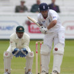 Постер, плакат: Cricket England vs Bangladesh 1st test day 3 Johnathon Trott