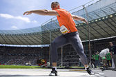 Ath: Berlín zlaté lize atletiky. Zoltan Kovago (Hun) — Stock fotografie