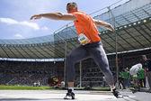 Ath: Berlin Golden League lekkoatletyka. Zoltan Kovago (Hun) — Zdjęcie stockowe
