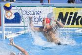 WPO: World Aquatics Championship - USA vs Germany. Merrill Moses watches the ball miss his goal — Stock Photo