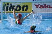 Wpo: чемпионат мира по водным видам спорта - может против rsa. хейли дункан (rsa) защищая ее цель — Стоковое фото