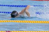 SWM: World Aquatics Championship - Mens 4 x 100m medley final. David Walters (USA) competing in the mens 4 x 100m medley final — Stock Photo