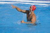 WPO: USA v Macedonia, 13th World Aquatics championships Rome 09. Merrill Moses USA team player competing preliminary round waterpolo match — Stock Photo