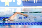 SWM: World Aquatics Championship - Mens 400m freestyle final. Peter Vanderkaay (USA) competing in the mens 400m freestyle finals — Stock Photo