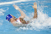 WPO. World Aquatics Championship - Semi final - USA vs Spain. Jeffrey Powers, Ivan Perez — Foto Stock