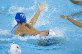 WPO. World Aquatic Championships - USA vs Greece. Christina Tsoukala, Petri Heather — Stock Photo