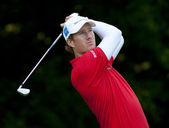 Will Besseling in action on the first day of the European Tour — ストック写真