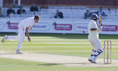 Cricket. England vs Bangladesh 1st test day 3. Steve Finn, Mohammad Ashraful — Stock Photo
