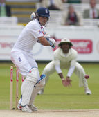 Kriket. i̇ngiltere vs bangladeş 1. test gün 3. alaistair cook — Stok fotoğraf
