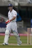 Cricket. England vs Bangladesh 1st test day 1. Andrew Strauss — Stock Photo