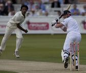 Cricket. engeland vs bangladesh 1ste test dag 2. mat voorafgaande — Stockfoto
