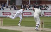Kriket. i̇ngiltere vs bangladeş 1. test gün 3. steve finn — Stok fotoğraf
