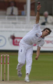 Cricket. england vs bangladesch 1. testtag 3. steve finn — Stockfoto