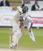 Kriket. i̇ngiltere vs bangladeş 1. test gün 3. shakib el hasan — Stok fotoğraf