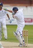 板球。英格兰 vs 孟加拉国第 3 天第一次测试。安德鲁 · 施特劳斯 — 图库照片