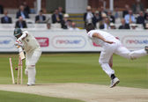 Cricket. England vs Bangladesh 1st test day 3. Mohammad Mahmudullah, James Anderson — Stock Photo
