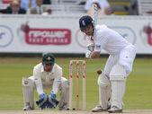 Kriket. anglie vs bangladéš 1. testovací den 2. markéta trott — Stock fotografie