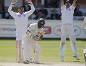 Cricket. England vs Bangladesh 1st test day 3. Matt Prior, Tamim Iqbal, James Anderson — ストック写真