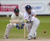 Kriket. anglie vs bangladéš 1. testovací den 3. keven pietersen — Stock fotografie