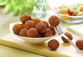 Bowl of meat balls — Stock Photo