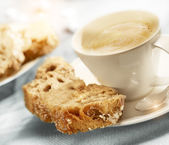 Coffee with sugar bread — Stock Photo