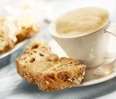Káva s cukrem chléb — Stock fotografie