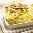 Stock Photo: Lasagne with zucchini