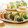 Vegetarian skewer — Stock Photo