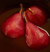 Stewed pears in red wine — Stock Photo