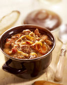 A small stew ready to eat served on the table — Stock Photo