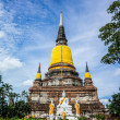 Wat Yai Chai Mongkhon, old buddhist temple of AyuthayProvince — Stock Photo #31288367