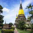 'Wat Yai Chai Mongkhon' old buddhist temple of AyuthayThailand — Stock Photo #31352699