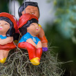 Clar dolls on basket — Stock Photo #31352757