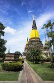 'Wat Yai Chai Mongkhon' old buddhist temple of Ayuthaya Thailand — Stockfoto
