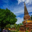Wat Yai Chai Mongkhon, old buddhist temple of Ayuthaya Province — Stock Photo