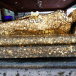 Back ofGolden Buddha at Wat Pho Bangkok, Thailand — Stock Photo