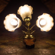 Beautiful vintage wall lamps. — Stock Photo