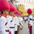 Bangkok, Thailand - October 25, 2013 : Thai guardsman band march — Stock Photo