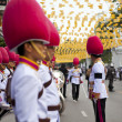 Bangkok, Thailand - October 25, 2013 : Thai guardsman band march — Zdjęcie stockowe