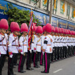 Bangkok, Thailand - October 25, 2013 : Thai guardsman band march — Стоковая фотография