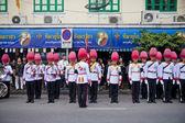 Bangkok, Thailand - October 25, 2013 : Thai guardsman band march — Stock Photo