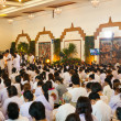 Stock Photo: Thai Buddhist people are worshiping to Buddhon October 5, 201