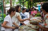 Bangkok, Thailand - October 20, 2013 : Unidentified Thai people — Stock Photo