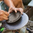 Stock Photo: Hand carved pottery thai style at koh kret island Thailand