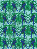 Seamless pattern with hyainth macaws. Hand drawn vector. — Stock Vector