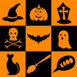 Halloween icons — Stock Vector #33948583